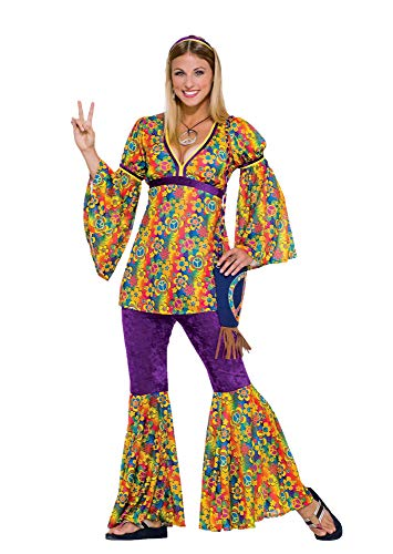 Forum Novelties Women's 60's Generation Hippie Purple Haze Flower Power Costume -