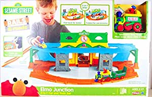 Amazing Playskool Sesame Street Elmo Junction Car and Train Set by Hasbro by Unknown