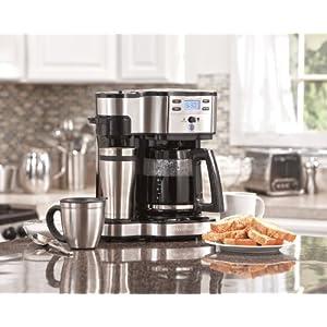 Hamilton Beach 49980A Single Serve Coffee Brewer and Full Pot Coffee Maker, 2-Way