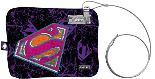 Vaultz Medium Electronics Pouch, Purple Superman, 7.5