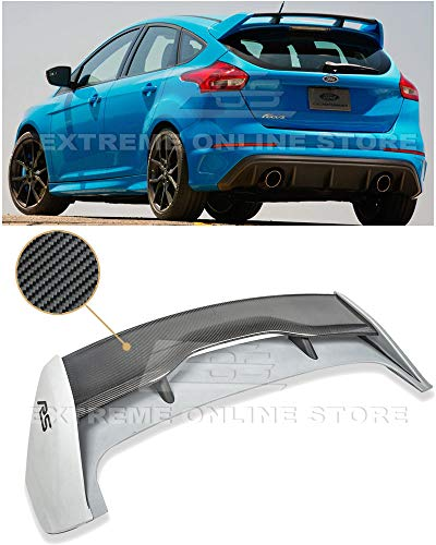 Extreme Online Store for 2013-Present Ford Focus 5Dr Hatchback | EOS RS Style Carbon Fiber Rear Roof Wing Spoiler