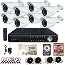 8Ch Channel Surveillance 3G & WIFI Support H.264 DVR Clouid Option Home Security System 1TB