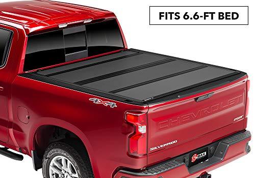 (BAKFlip MX4  Hard Folding Truck Bed Tonneau Cover | 448131 | fits 2019 GM Silverado, Sierra 6' 6