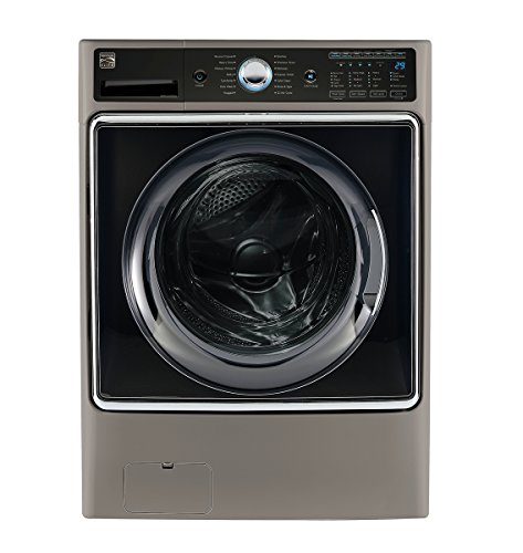 Kenmore Smart 5 2 Cu Ft  Front Load Washer With Accela Wash Technology In Metallic Silver    Works With Amazon Alexa  Available In Select Cities Only