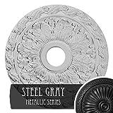 Ekena Millwork CM19SPSGS Spring Leaf Ceiling Medallion, Steel Gray