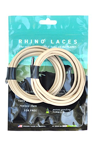 Rhino Laces Unbreakable Shoe Laces, Coyote Tan, Small
