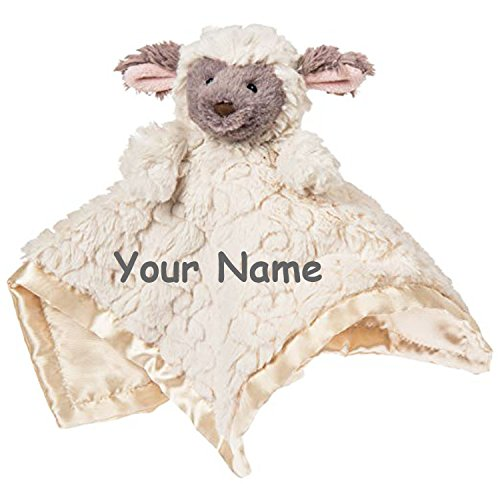 Mary Meyer Personalized Putty Nursery Baby Lamb Character Blanket Snuggle Blanky - 13 Inches by Mary Meyer