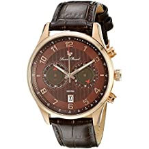 Lucien Piccard Men's LP-11187-RG-04-BRW Navona Analog Display Quartz Brown Watch