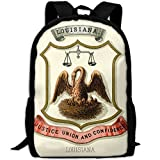 ZQBAAD Louisiana State Coat Of Arms Luxury Print Men And Women's Travel Knapsack