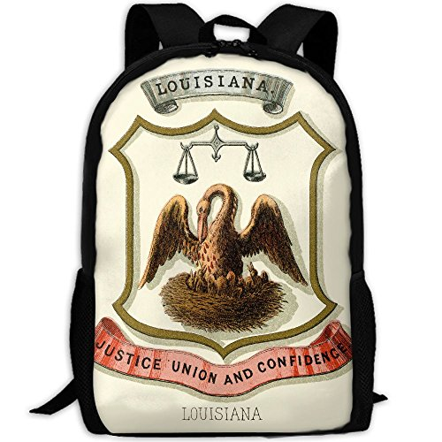 ZQBAAD Louisiana State Coat Of Arms Luxury Print Men And Women's Travel Knapsack by ZQBAAD (Image #1)