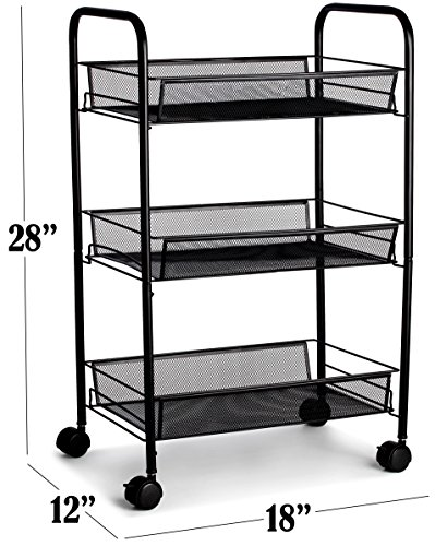 Metal rolling cart these utility carts are useful for - Bathroom storage cart with wheels ...