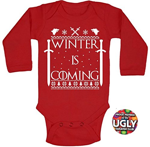 Winter Is Coming Christmas One Piece Baby Bodysuit
