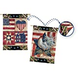 Gifted Living American Folk 2-Sided Quilt Vertical Flag Review