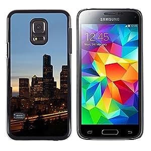 LECELL--Funda protectora / Cubierta / Piel For Samsung Galaxy S5 Mini, SM-G800 -- Chicago City --