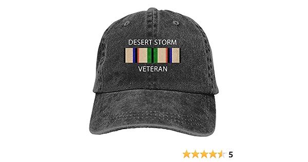 Desert Storm Veteran Logo Man Classics Cap Womens Fashion Hat Baseball Cap