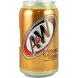 A&Wクリームソーダ355ml×48缶 (12缶×4ケース) Cream Soda