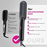 SIPU Hair Straightener Brush - Hair Straightener