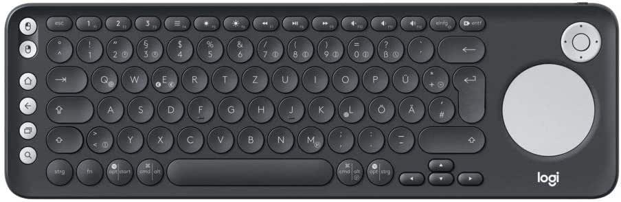 Logitech Plus Draadloos tv-toetsenbord zwart