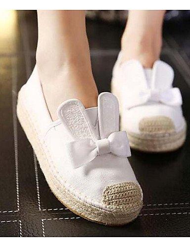 5 Gyht White Eu39 Exterior De Zapatos Cn40 Plano Mocasines Zq us8 Uk6 Comfort Mujer 5 Blanco Tul Tacón Negro wB6d7WWqH