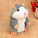 Kids Education Toys,Hemlock Toddler Plush Hamster Cry Repeat Speaking Mouse Toys (Grey)