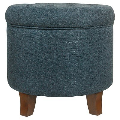 Boho Tufted Storage Ottoman Purple - HomePop174; Indigo by HomePop