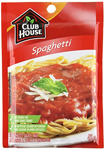 Club House Spaghetti Sauce Mix, 43g/1.5oz., {Imported from Canada}