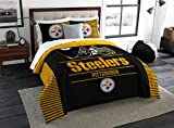 Pittsburgh Steelers Comforter Set Bedding Shams NFL 3 Piece King Size 1 Comforter 2 Shams Football Officially Licensed Linen Bedroom Decor Imported For True Fans Sold by MBG.4u