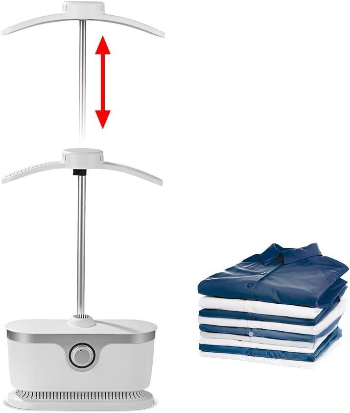 Planchador automático para camisas CLEANmaxx | Planchador para camisas y blusas, planchador automático | Bastidor de planchado con dos programas de planchado [1800 vatios/blanco]