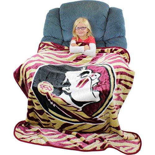 Florida State Seminoles Soft Blanket (College Covers Florida State Seminoles Super Soft Raschel Throw Blanket, 50