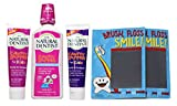SLS Free Toothpaste Kids Natural Dentist Fluoride Gel Cavity Zapper And Rinse Bundle with 2 Magic Pads (Pack of 5)