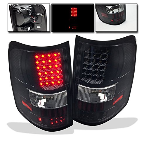 ZMAUTOPARTS Ford F150 Styleside LED Altezza Tail Brake Light Rear Lamp Black
