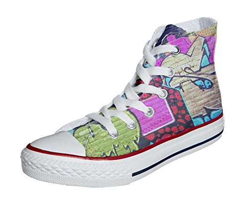 Converse All Star Hi Personnalisé et Imprimés chaussures coutume, Sneaker Unisex (produit Italien artisanal) Girl Street