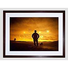War Military Army Soldier Gun Rifle War Marine Flare Desert Framed Art Print