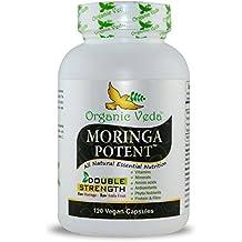Organic Moringa Powder Potent Capsules (120 Veg). 100% Pure and Natural Raw Herbal Dietary Super Food Supplement. Non GMO, Gluten FREE. US FDA Registered Facility. Kosher Certified Vegetarian Capsule. All Natural!