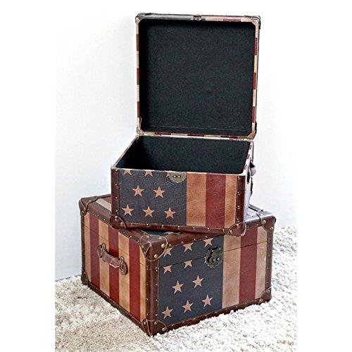 International Caravan 46B-10B361-IC Furniture Piece Vintage Set of Two Square Box
