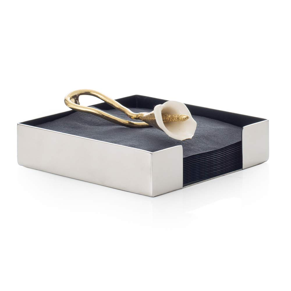 Michael Aram Calla Lily Cocktail Napkin Holder by Michael Aram