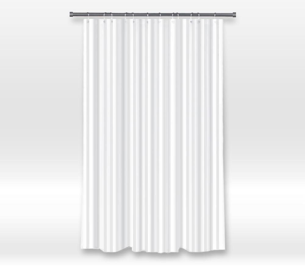 Rue de Marseille Fabric Shower Curtain Liner - Mildew Resistant, Water Repellent Washable - 71-inch x 72-inch SCL-108R