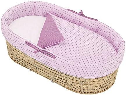 80 x 38 x 25 cm Bol/ín Bol/ón 1964140013200 Capazo con colcha desenfundable color rosa