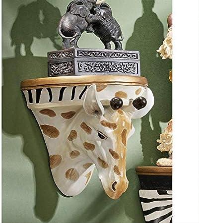 Multicolore Design Toscano EU1014 Sculpture pour Etag/ère Murale Z/èbre Africain 15 x 19 x 19 cm