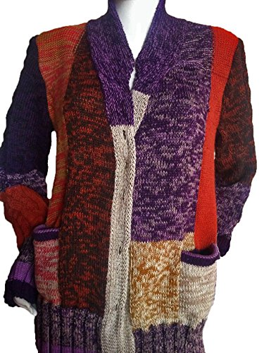 - Sweet Dreams Home Antiallergenic 100% Baby Alpaca Cardigan, Mixed Colors, Silky, M