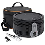 Best Choice Products Indoor Outdoor 16'' Portable Charcoal BBQ Grill w/Travel Bag & Cooking Metal Tongs (Black)