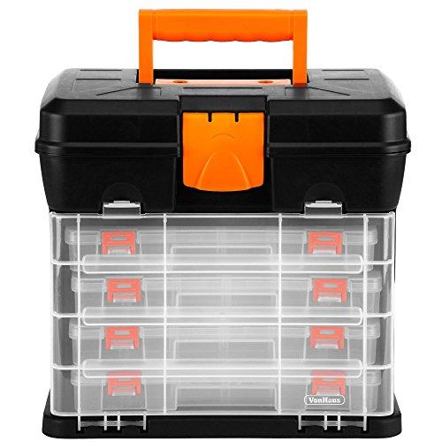 Portable Craft Storage : Vonhaus very small utility tool storage box portable
