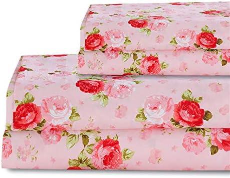 Bedlifes Floral Sheets Pillowcase Microfiber