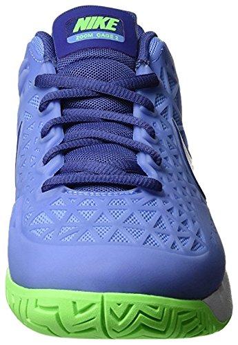 Nike Wmns Zoom Cage 2, Zapatillas de Tenis para Mujer Azul (Chlk Bl / White-Vltg Grn-Dk Prpl)