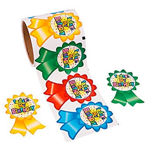 Today's My Birthday Roll Stickers (100 Piece) -