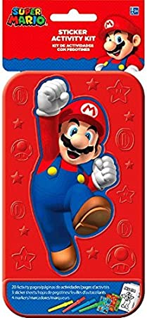 Super Mario Stickers Featuring Mario and Friends Bundle Includes Separately Licensed GWW Reward Stickers and Bookmarks for Kids