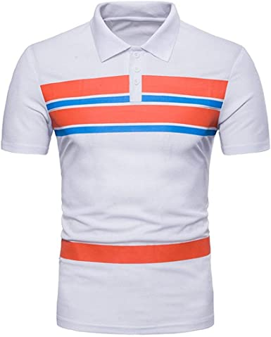 Huixin Camisa De Polo De Los Hombres Camisa Manga De Slim Fit Polo ...