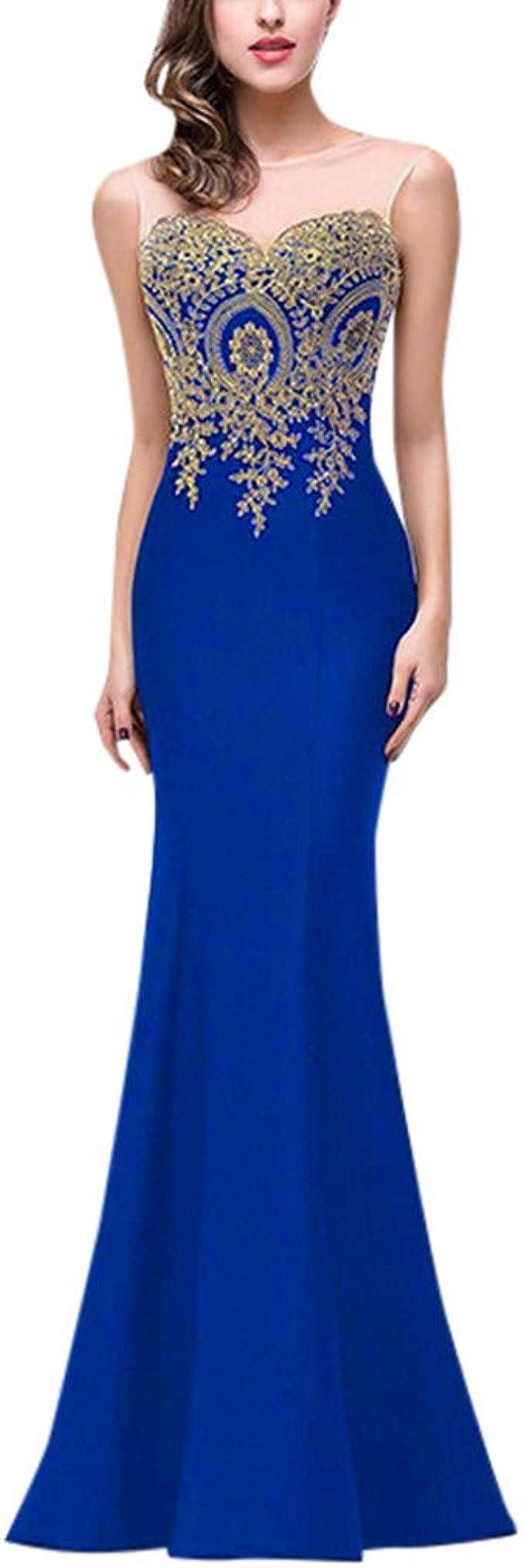 Elecenty Moda Vestido de Noche de Las señoras Boda Dama De Honor ...