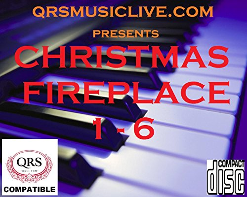 (6 DISC SET) 2018 CHRISTMAS FIREPLACE AND PIANO - QRS PIANOMATION Compatible Player Piano CD