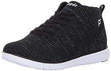 Propet Women's TravelFit Hi Walking Shoe, Black/Metallic, 8.5 M US